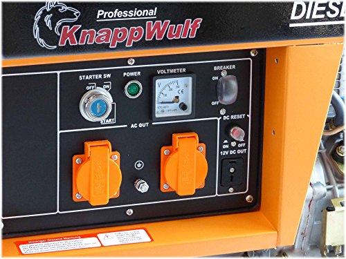 Stromerzeuger KW5500 1-Phasig 5000Watt Generator Notstromaggregat -
