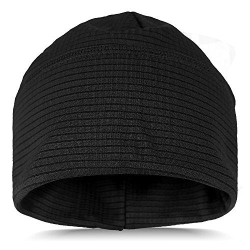 Thermo Mütze Sportcap aus schnell trocknendem Material Schwarz OneSize