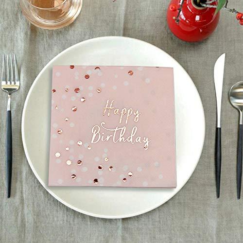 a, Servietten Geburtstag 33x33cm, Happy Birthday Papierservietten für Geburtstag Party Favors Supplies ,32Stück ()