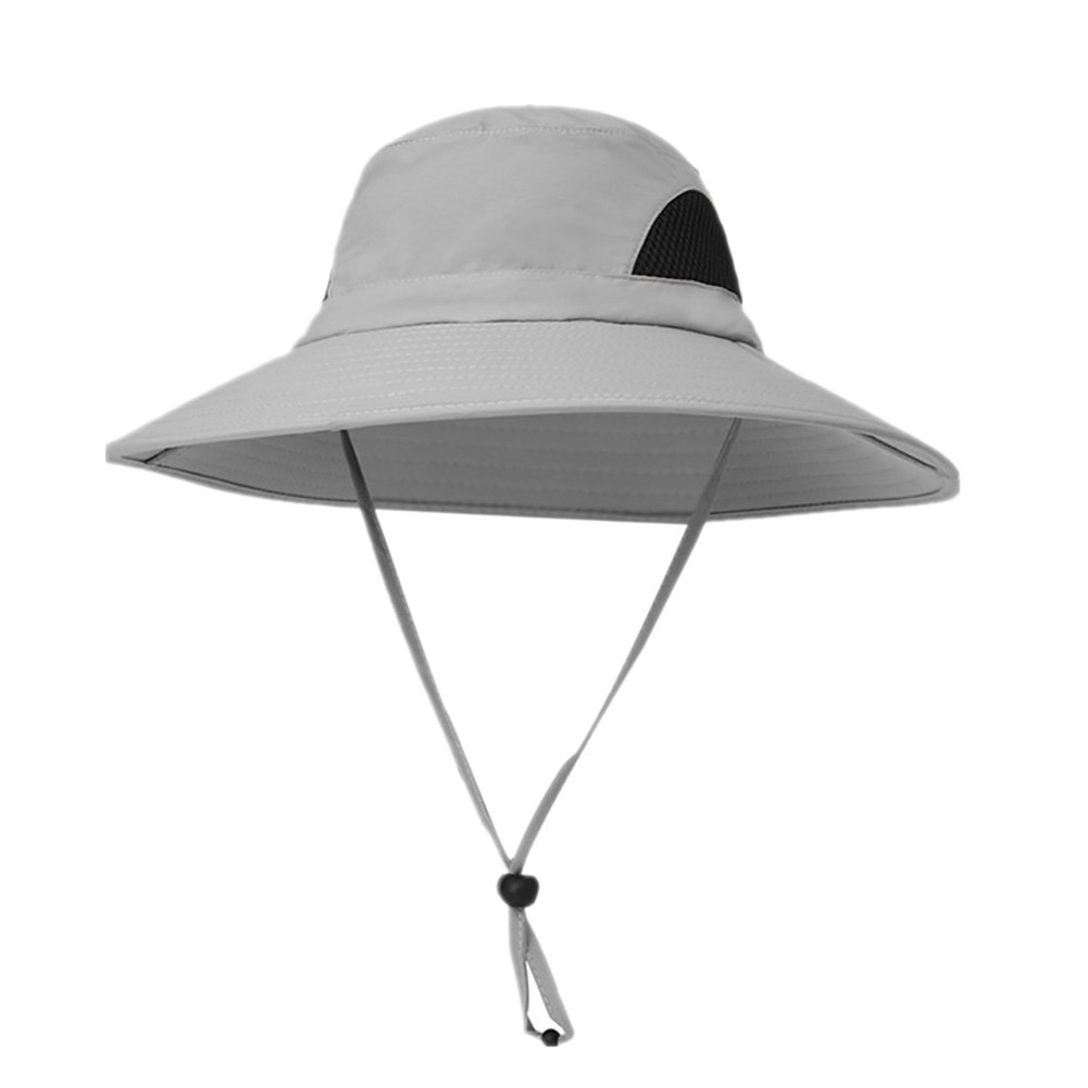 6bf76eeb8c1 Dkhsy Mens Sun Hat Unisex Wide Brimmed UV Protection Bucket Hat ...