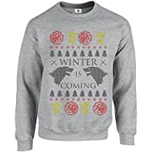 Inspired Winter Coming Funny Game to Get The Thrones Ugly Sweater Christmas Printed Adult Sweatshirts