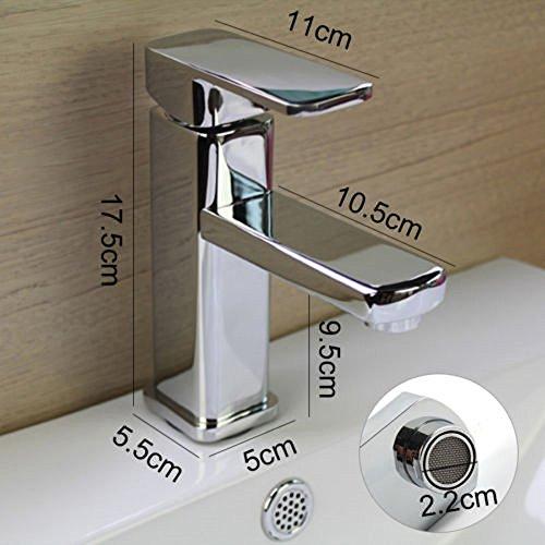AllRight Badarmatur Wasserhahn Waschtischarmatur Einhandmischer hoch Bad Küche Armatur - 2