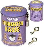 alles-meine.de GmbH Spardose -  Studenten Kasse  - Incl. Name - mit 2 Schlüssel und Schloss - st..