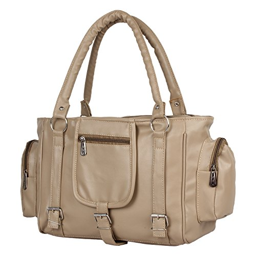 Glory Fashion Women\'s Beige Handbag ( Beige ,Bags Beautys)