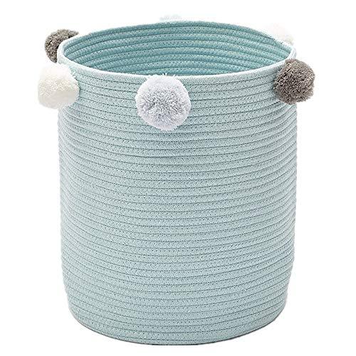 Zinsale Cuerda de algodón Cestos para la Colada Pom Pom Robusta Lavable...