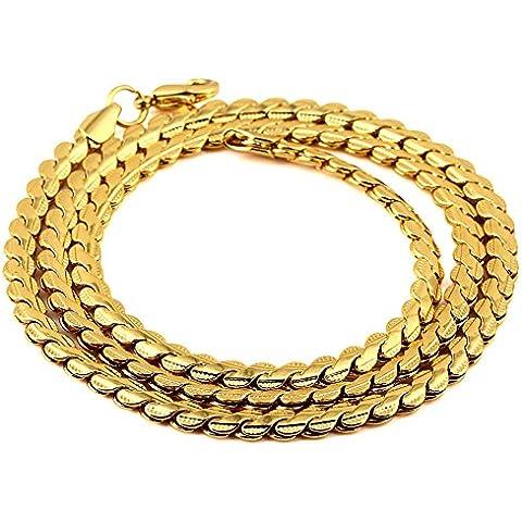 Cadenas para hombre de 18 quilates chapado en oro de cobre con chapado en oro del cordón de 50 cm Hip Hop