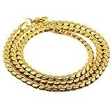 MCSAYS Cadenas para Hombre de 18 Quilates Chapado en Oro de Cobre con Chapado en Oro del cordón de 50 cm Hip Hop