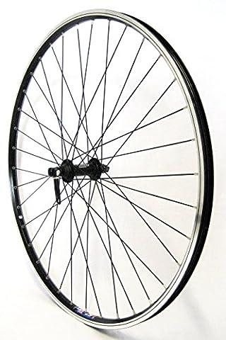28 Zoll Fahrrad Laufrad Vorderrad Hohlkammerfelge CUT 19 Shimano Deore 610 schwarz für V-Brakes / Felgenbremse