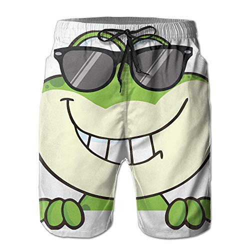 tyui7 Cooler Frosch mit Brille Herren Badehose Quick Dry Beachwear Sport Running Swim Board Shorts Mesh Futter, Größe XXL