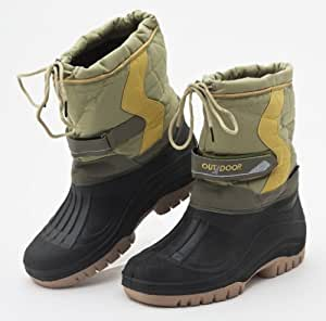 Green/Black Snow Boots UK 4-5
