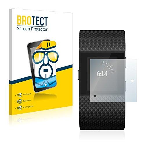 BROTECT Schutzfolie kompatibel mit Fitbit Surge [2er Pack] klare Bildschirmschutz-Folie