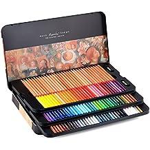newdoer marco Renoir 100aceite de colores Lápices de colores para dibujar artista de dibujo con lápices caja de lata Set