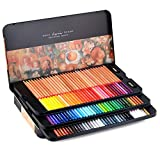 Newdoer Marco Renoir Boîte en étain de 100crayons de couleur type pastels