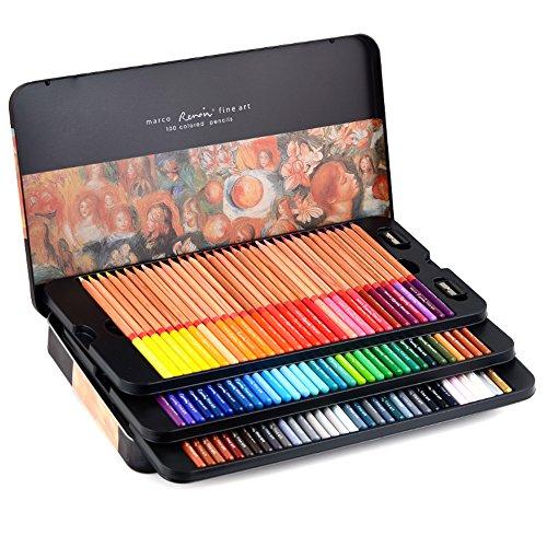 Newdoer Marco Renoir, Ölfarbe-Buntstifte, 100 Farben, zum Zeichnen, Skizzieren und Malen,...