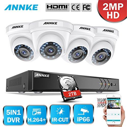 ANNKE-3MP-8CH-Kit-de-Seguridad-4-Cmaras-Vigilancia-CCTV-IR-Cut-IP66-HD-DVR-2PM-H264-Sistema-de-Vigilancia-Exterior-y-Interior-Cmara-Impermeable-Infrarrojos-Visin-Nocturna-Rpido-Deteccin-de-Movimiento-