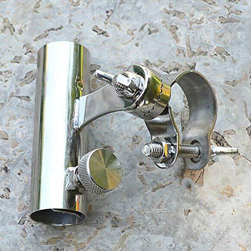 LYXMY Portacañas Pesca Soporte para Silla Marina Soporte Acero Inoxidable Barco Ferrocarril Exterior Hardware Antideslizante Práctico Resistencia a la corrosión Clip Abrazadera(Estante de la Barra)