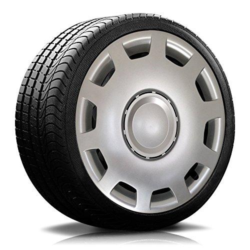 Autoteppich Stylers (Farbe & Größe wählbar) 16 Zoll Radkappen Granit Silber passend für Fast alle gängingen Fahrzeuge (universal)