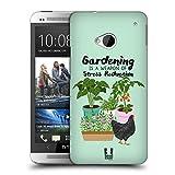 Head Case Designs Garten Huhn Froehliche Garten Arbeit Ruckseite Hülle für HTC One M7