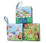 Agooding Soft Cloth Baby Books Set of 3-Bright - Best Reviews Guide