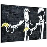 "Lienzo de pared de Banksy de Pulp Fiction con plátanos, lona, 0- A4 - 12"" X 8"" (30CM X 20CM)"