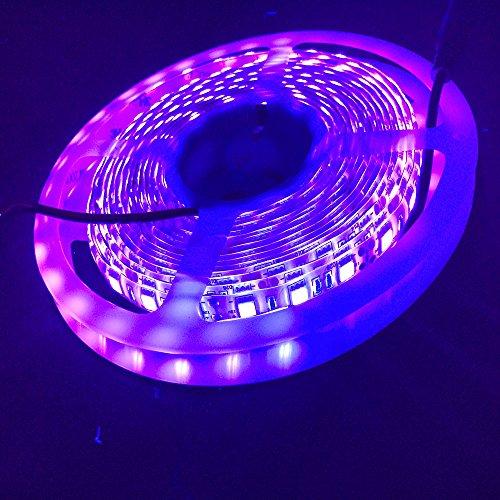 UV Led Licht, CORST Wasserdicht UV Schwarzlicht UV Led Streifen Licht Band 5M/16FT SMD5050 300LED 395-405mm Flex Licht DC12V