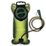 Overmont Trinkbeutel Trinkblase BPA-frei Trinkrucksack mit Schlauch für Outdoor Aktivitäten, wie Wandern, Radfahren, Laufen, Camping 2I Grün