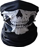 BUFF Gesichtsmaske Schwarz nahtlos mit Totenkopf-Motiv