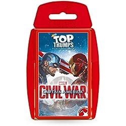 Top Trumps Capitán América: juego de cartas Guerra Civil