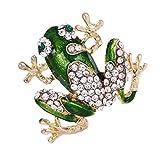Sharplace Broche Pin de Inseco de Rana Verde de Aleación para Mujer Hombre Adorno de Vestido...