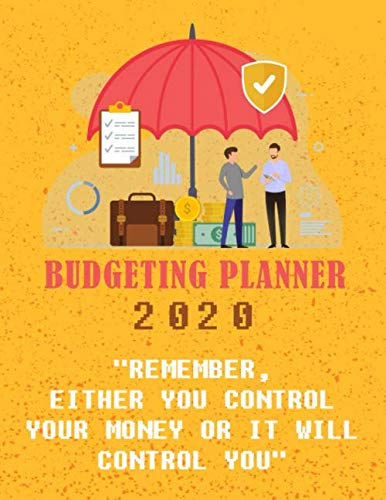 """Sunny Decree Budget Planner: - """"Remember, Either You Control Your Money Or It Will Control You"""" (Budgeting Quotes) - Personal Budget Planner - Budget Planner monthly"""