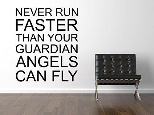 Never Run Faster Wandtattoo Black Certified Freak