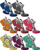 6 Paar Sneaker Running Laufsocken Funktionssocken mit Frotteesohle und Stützfunktion