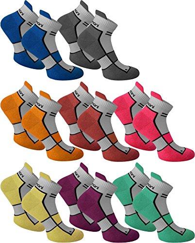 6 Paar Sneaker Running Laufsocken Funktionssocken mit Frotteesohle und Stützfunktion Farbe Dewberry Größe 39/42 (Dewberry ' Bekleidung)