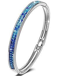 """KATE LYNN - """"Lifespring"""" Bracelet Femme - Cristal de SWAROVSKI® Bleu"""