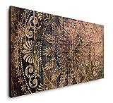 Paul Sinus Art Abstrakt auf Papier 120x 60cm Panorama Leinwand Bild XXL Format Wandbilder Wohnzimmer Wohnung Deko Kunstdrucke
