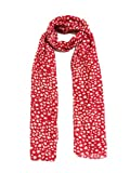 RED PRINTED SCARF FASHION STOLES LADIES FASHION SCARVES STYLISH SCARF BEAUTIFUL SCARF HEAD SCARF FANCY STOLES