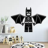 Livraison Gratuite Batman Autocollant Décoratif Imperméable À La Maison Décor Imperméable Stickers Muraux Diy Décoration de La Maison Vinilo Pared   Rose Douce L 43 cm X 61 cm