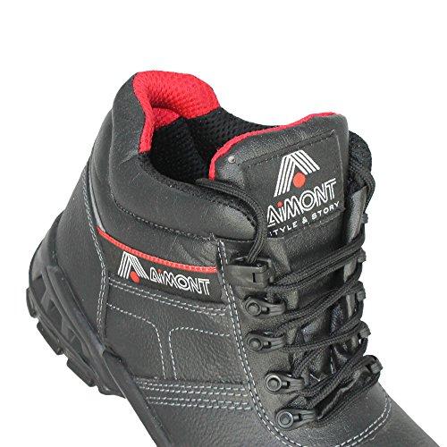 Aimont Thor S3 SRC Sicherheitsschuhe Trekkingschuhe hoch Schwarz B-Ware Schwarz