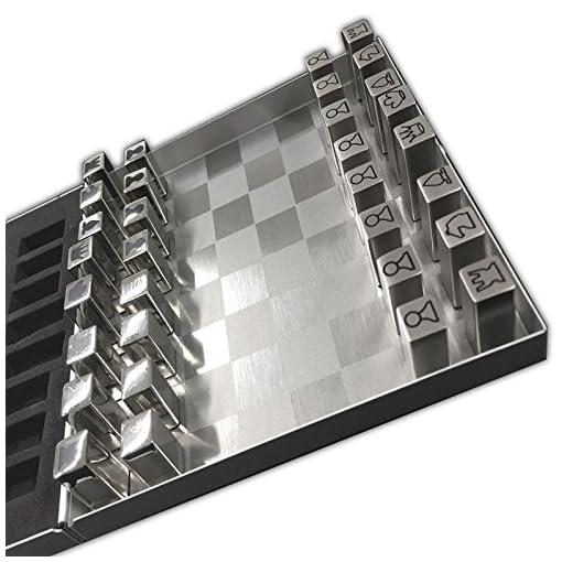 Edelstahl-Reiseschach-Magnetisch-Metall-Schachspiel-Magnetschach-Schach