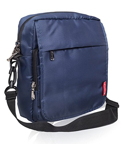 Cosmus Rome Polyester 6 Ltrs Navy Blue Sling Bag For Ipad/10Inches Tablet