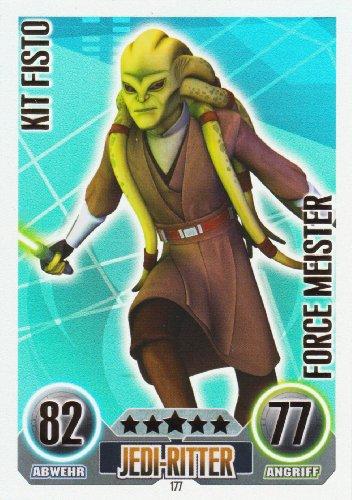 Star Wars Force Attax Einzelkarte 177 Kit Fisto Jedi-Ritter Force Meister deu... (Star Wars, Jedi-meister)