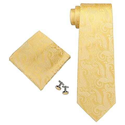 Landisun - Set De Cravates Homme - jaune - Small