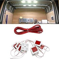 FEZZ 10X4 Lampada LED Luce Interiore Modulo Pubblicitaria Atmosfera Bianca per Auto Esterno Camper Camion Barca Lettura Soffitto Plafoniere 12V