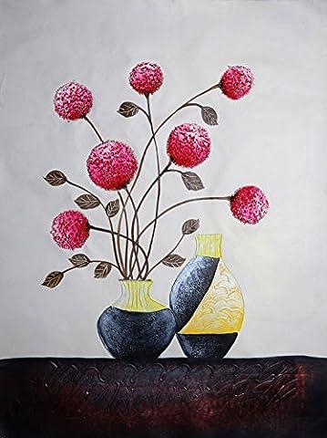 Hwagui-flower dans le Vase Imprim? sur toile sans cadre peintures pour d?coration de la maison pour le salon - Fleur - Rouge