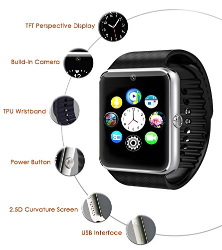 preisvergleich gstek bluetooth smart watch handy uhr mit. Black Bedroom Furniture Sets. Home Design Ideas