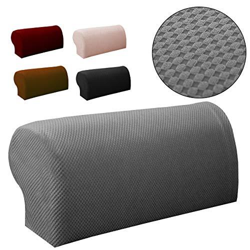 Global Brands Online 2 STÜCKE Premium MöBel Armlehne Abdeckung Sofa Couch Stuhl Arm Protektoren Stretchy (Stuhl-arm-protektoren)