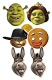 "Star Cutouts Silhouette smp353 ""Shrek Masque en carton (Lot de 6)"