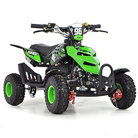 FunBikes Kids Mini Quad Bike 49cc 50cc Petrol Quad - Ride On ATV Midi (Green)