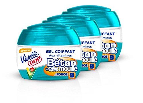 VIVELLE DOP Gel Béton Effet Mouillé Pot 150 ml - Lot de 3