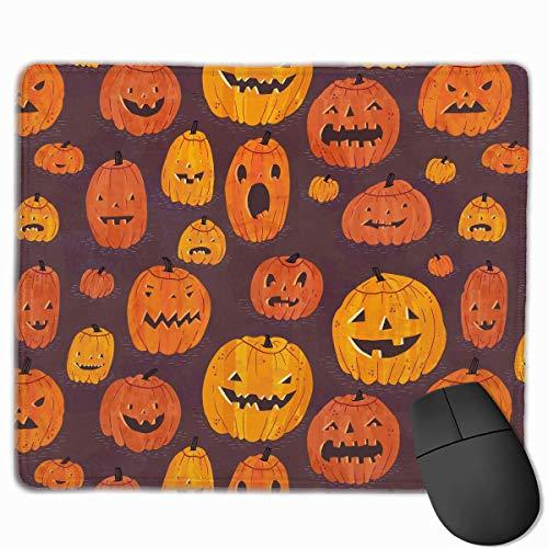 ads Custom, Mouse Pad Halloween Pumpkins Pattern Rectangle Non-Slip 11.8